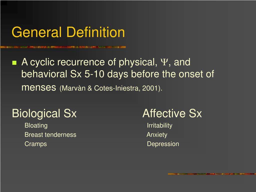 PPT - Premenstrual Syndrome ( PMS) PowerPoint Presentation - ID:1257301