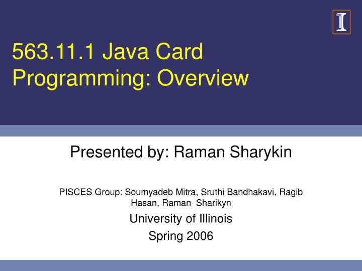 563 11 1 java card programming overview