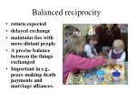 balanced reciprocity