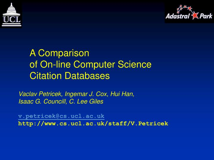 research papers in computer science format How to write an abstract: tips and samples leah carroll, phd, director, office of undergraduate research an abstract is a short summary of your completed research.