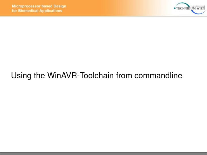 Using the WinAVR-Toolchain from commandline