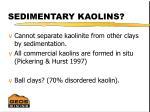 sedimentary kaolins