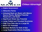 chilean advantage