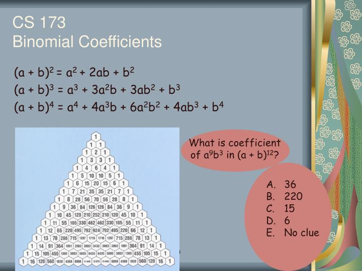 What is coefficient of a