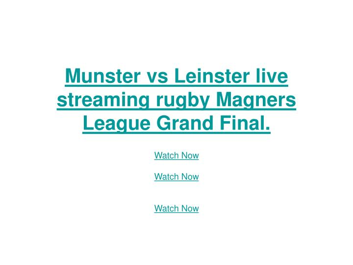 Munster vs leinster live streaming rugby magners league grand final
