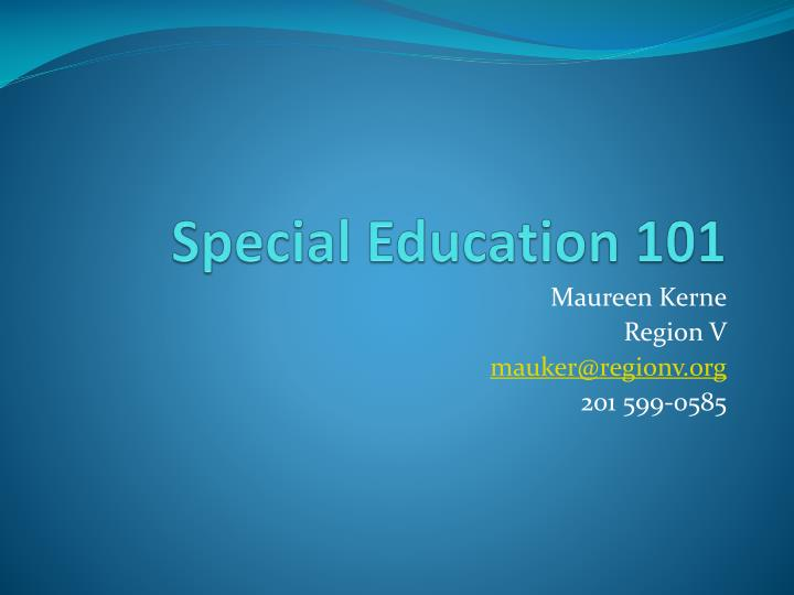 special education 101 n.
