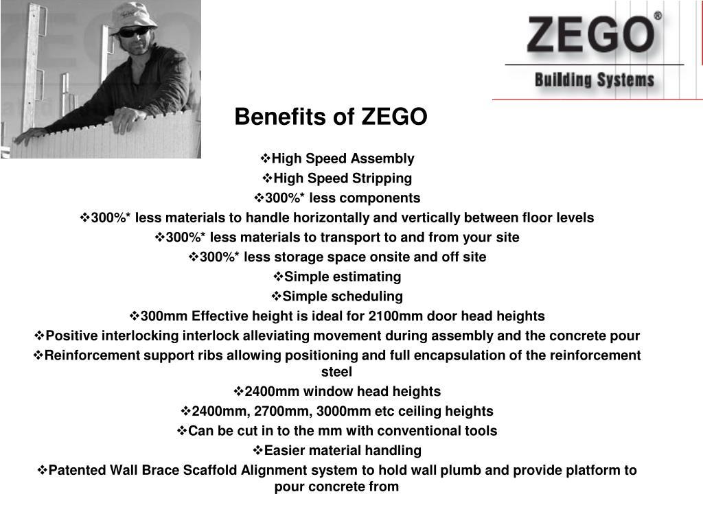 Benefits of ZEGO