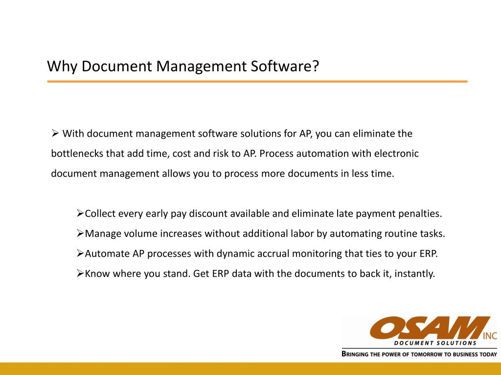 Why Document Management Software?