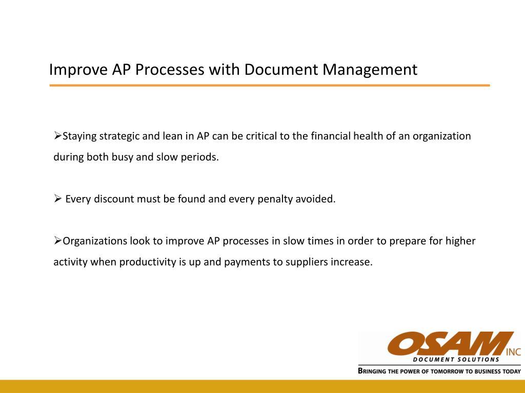 Improve AP Processes with Document Management