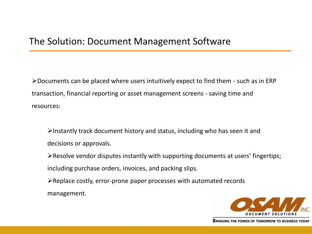 The Solution: Document Management Software