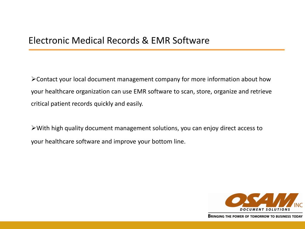 Electronic Medical Records & EMR Software