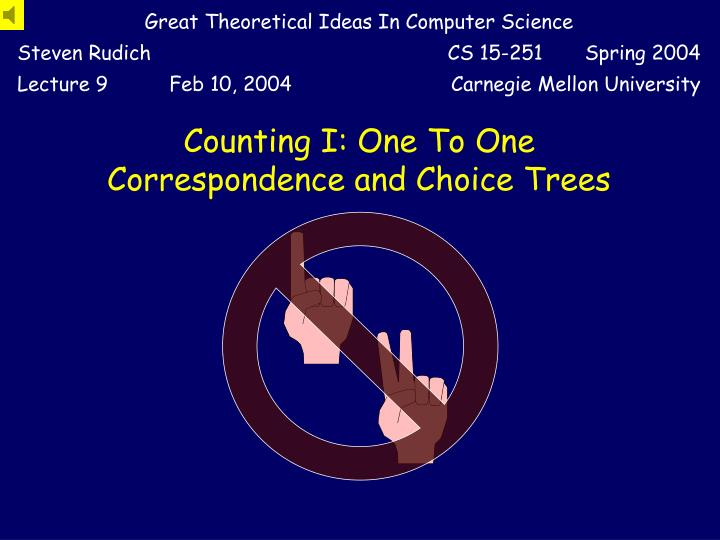 counting i one to one correspondence and choice trees n.
