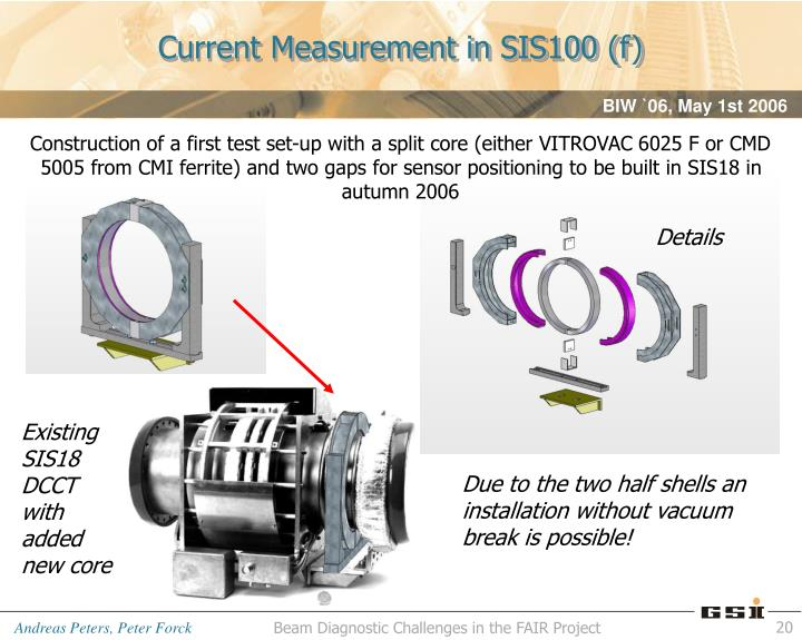 Current Measurement in SIS100 (f)