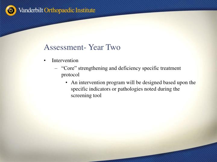 Assessment- Year Two