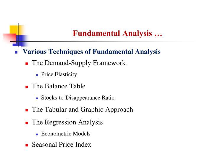 Fundamental Analysis …