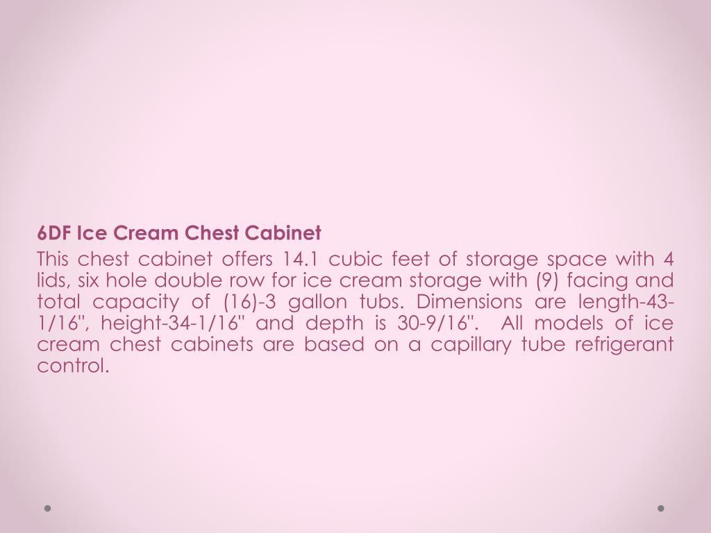 6DF Ice Cream Chest Cabinet