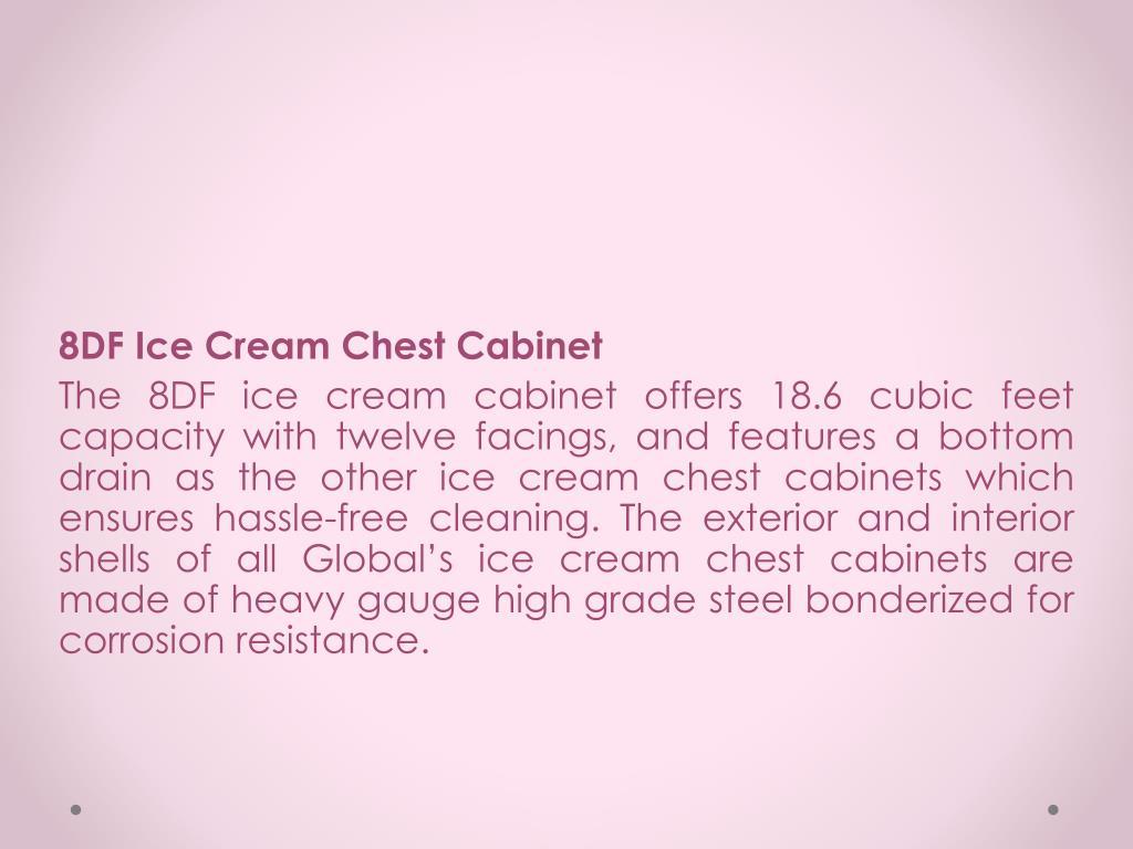 8DF Ice Cream Chest Cabinet