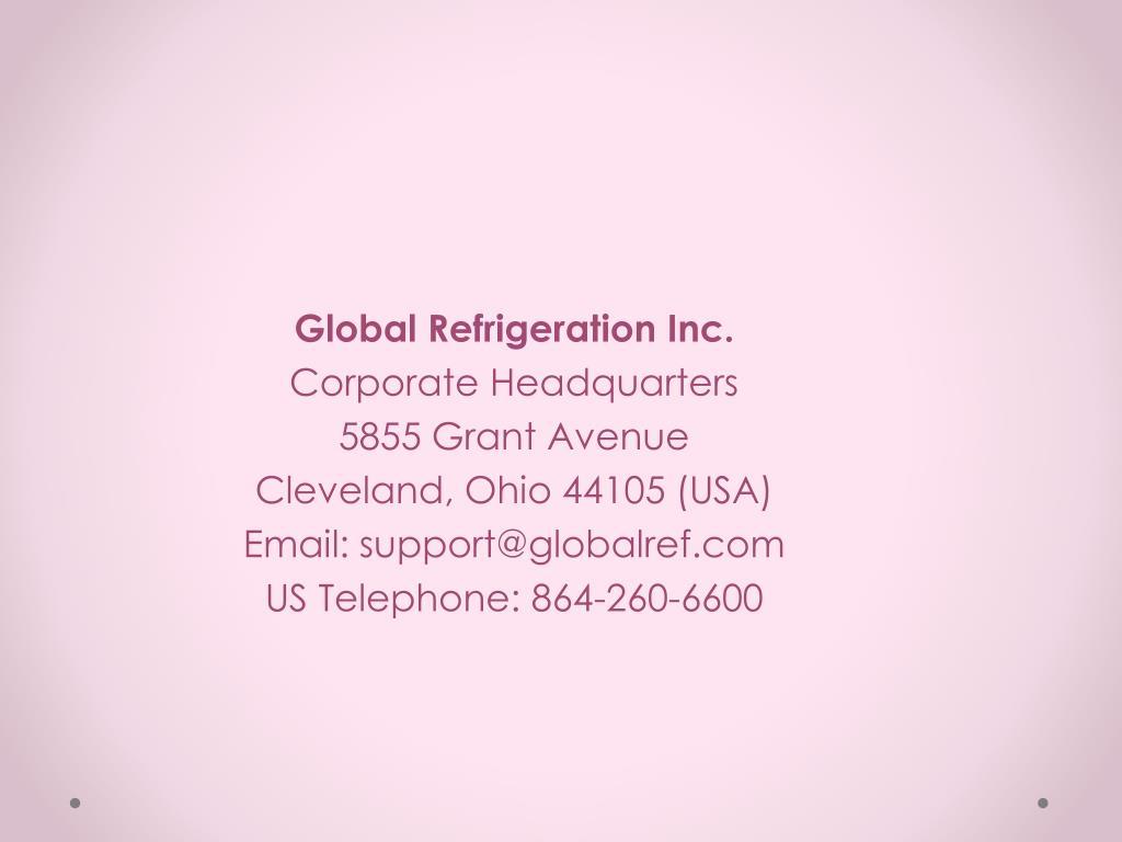 Global Refrigeration Inc.