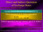 direct and indirect quotation of exchange rates