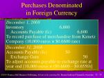 purchases denominated in foreign currency1