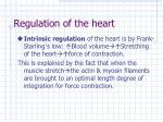 regulation of the heart