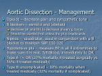 aortic dissection management