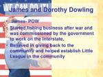 james and dorothy dowling