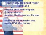rev harry reginald reg hammond