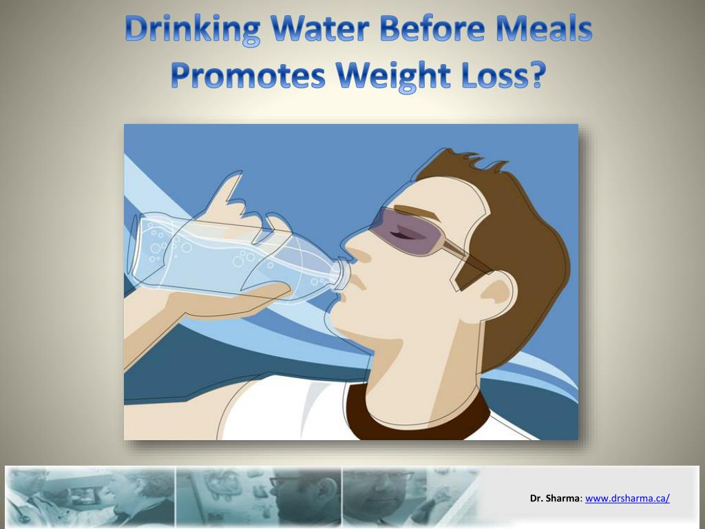 drinking water before meals promotes weight loss l.