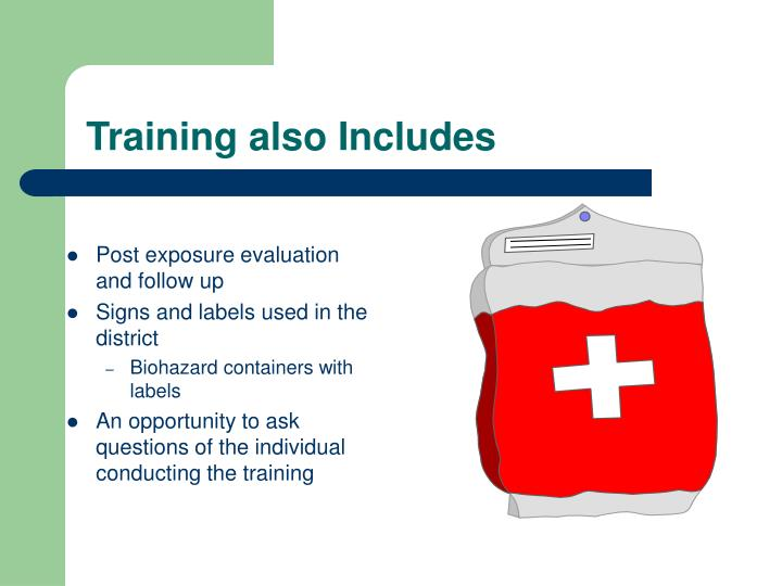 Training also Includes