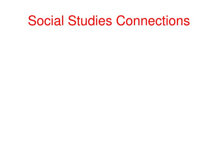 Social Studies Connections