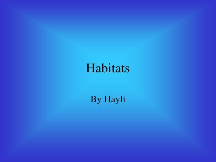 habitats n.