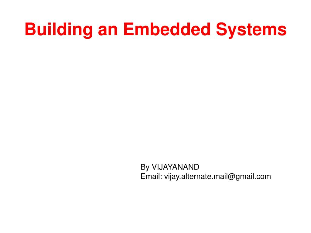 building an embedded systems l.