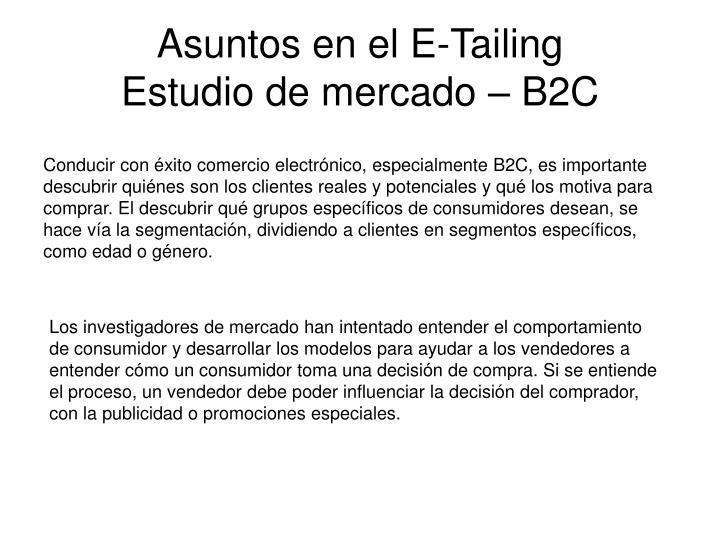 Asuntos en el E-Tailing