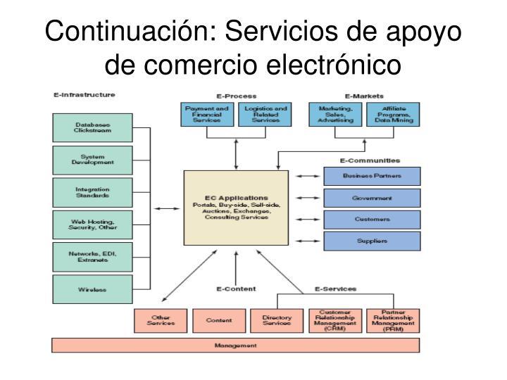 Continuación: Servicios de apoyo de comercio electrónico