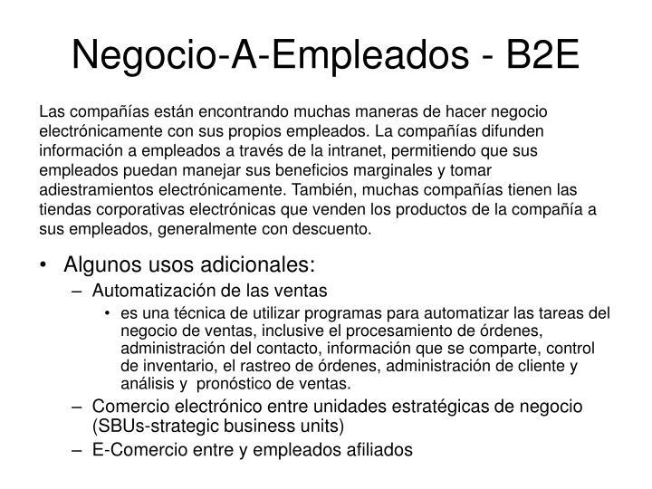 Negocio-A-Empleados - B2E