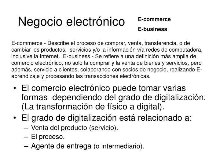 Negocio electrónico