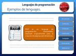ejemplos de lenguajes