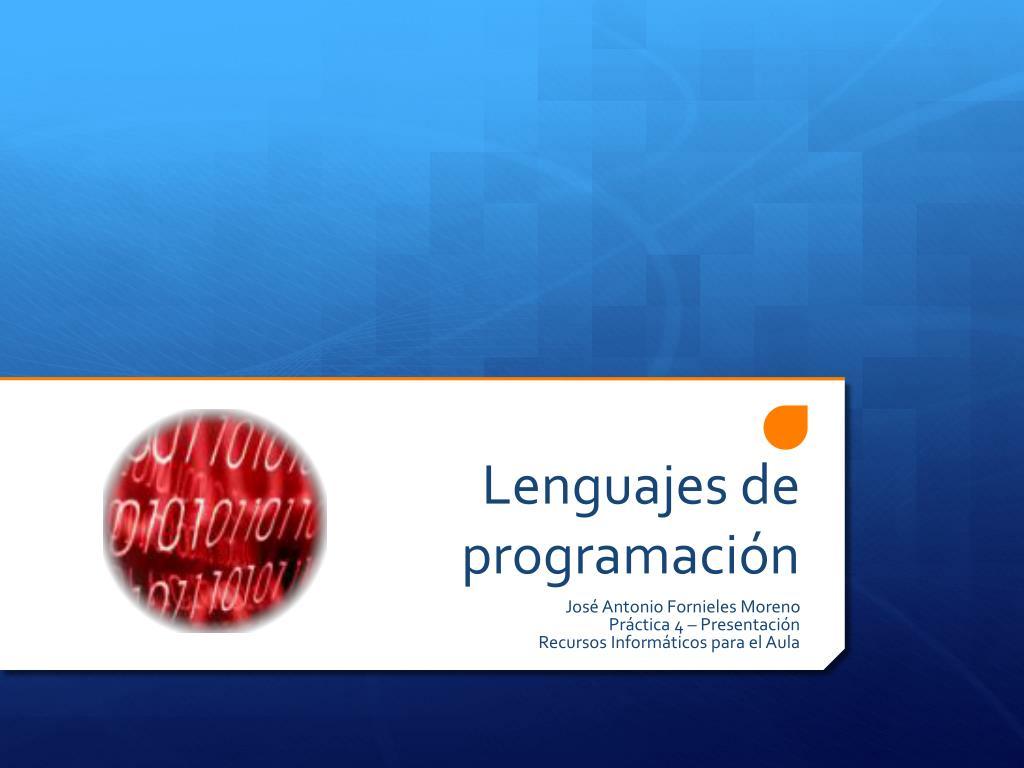 lenguajes de programaci n l.