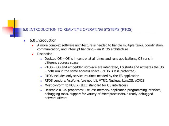 6 0 introduction to real time operating systems rtos n.
