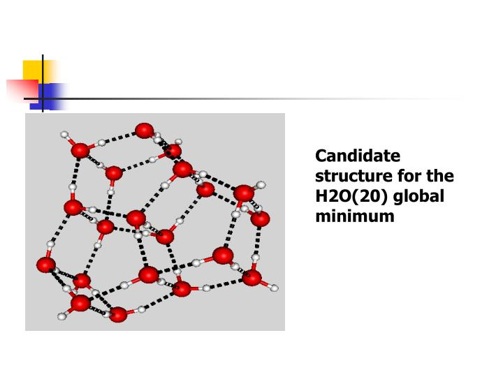 Candidate structure for the H2O(20) global minimum