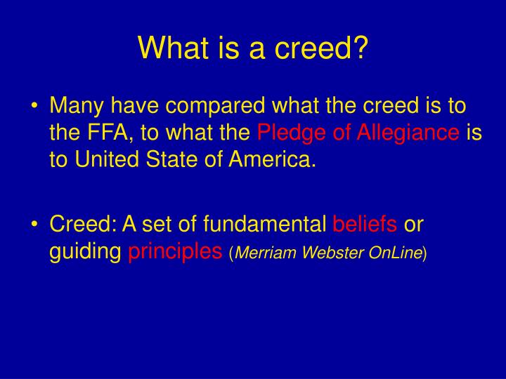 What is a creed