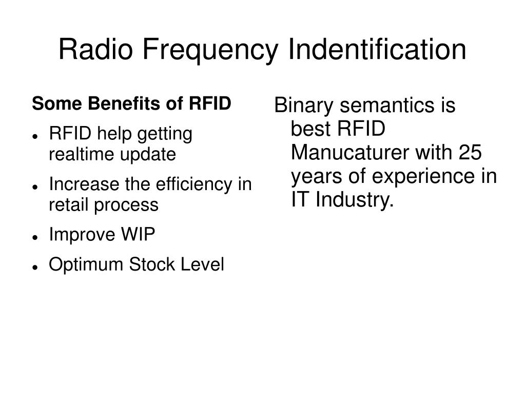 radio frequency indentification l.