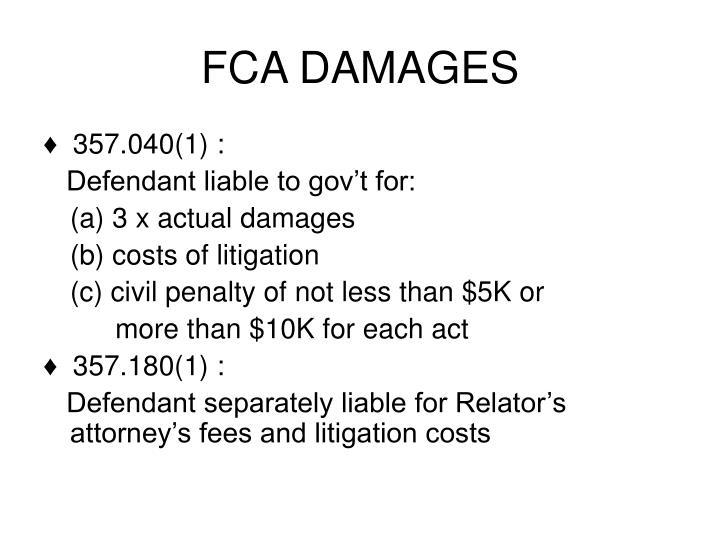 FCA DAMAGES