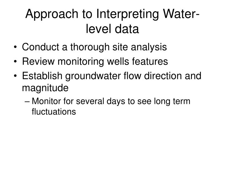 Approach to Interpreting Water-level data