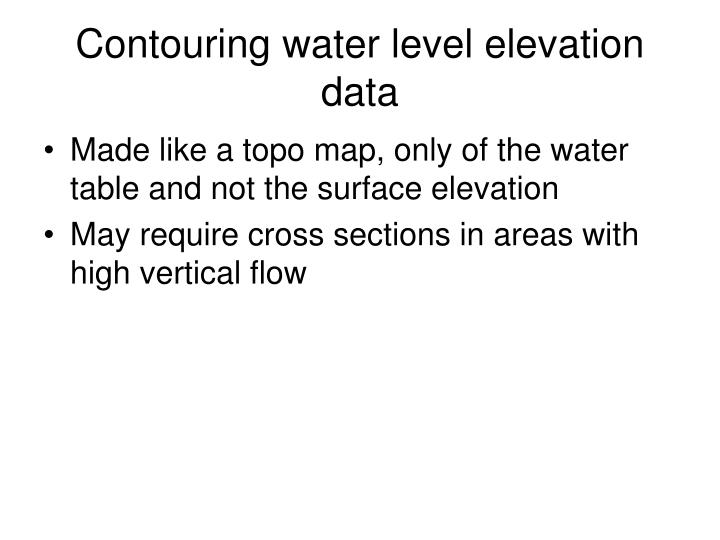 Contouring water level elevation data