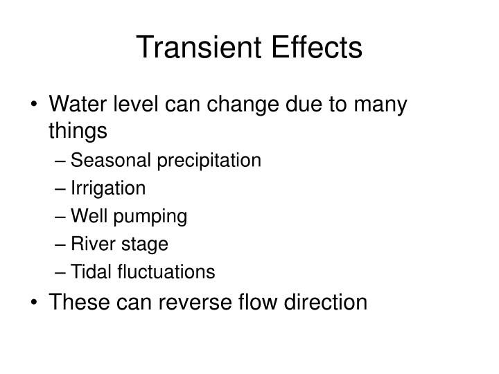 Transient Effects