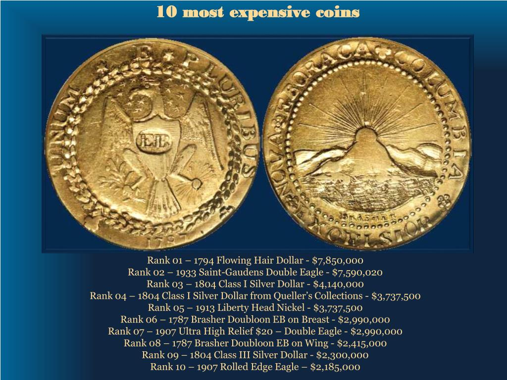 10 most expensive coins l.