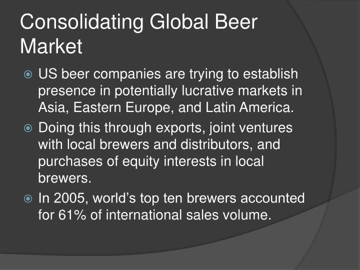 Consolidating Global Beer Market