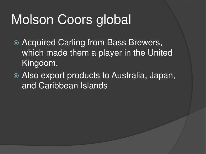 Molson Coors global